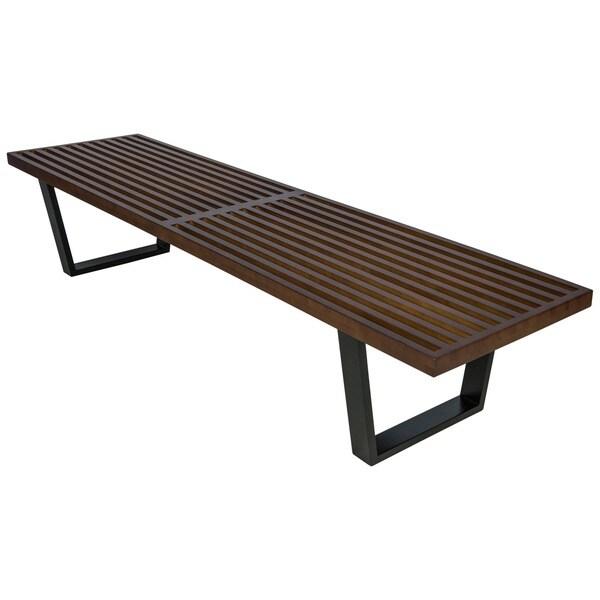 Leisuremod Inwood Dark Walnut 6 Foot Bench Free Shipping Today 17855309