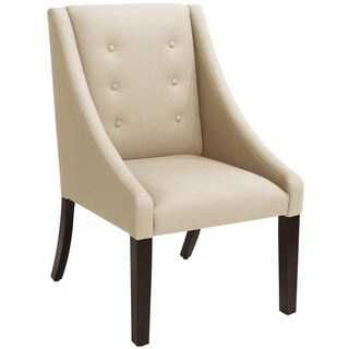Skyline Furniture Linen Sandstone Swoop Dining Chair