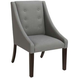 Skyline Furniture Linen Grey Swoop Dining Chair