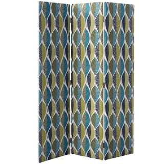 Skyline Furniture Woodcut Leaf Peacock Adult Straight Screen