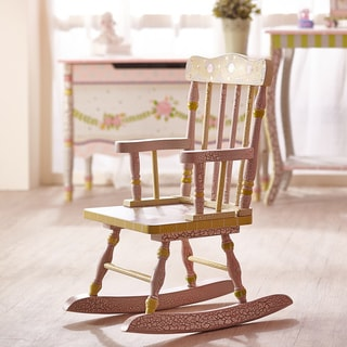 Fantasy Fields Crackled Rose Child's Rocking Chair
