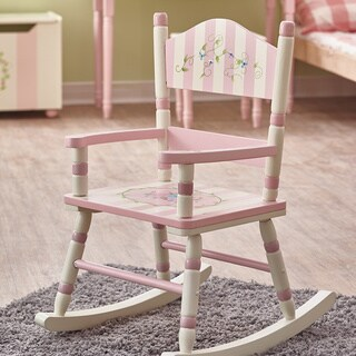 Fantasy Fields Bouquet Classic Rocking Chair - Pink/ White