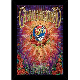 Grateful Dead - 50th Anniversary Print with Traditional Black Frame (24 x 36)