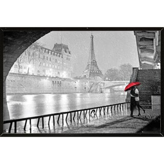 Eiffel Tower Kiss Wall Plaque (36 x 24)