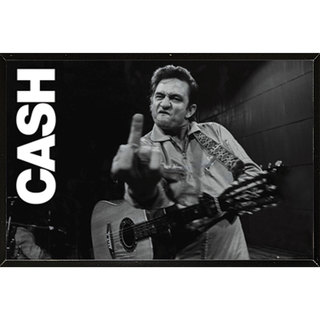 Johnny Cash - San Quentin Finger Wall Plaque (36 x 24)