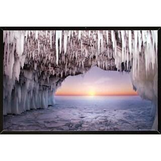 Ice Cave Horizon Wall Plaque (24 x 36)