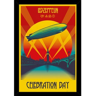Led Zeppelin - Celebration Day Print with Traditional Black Frame (24 x 36)