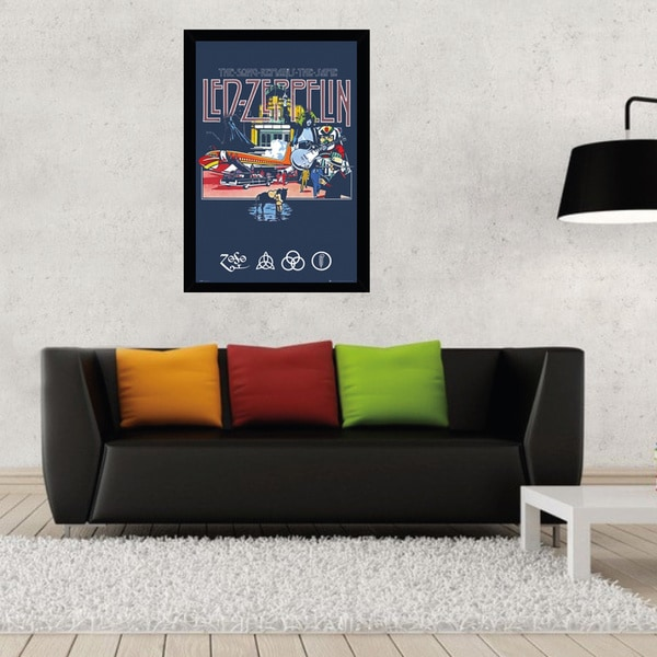 Shop Led Zeppelin - Remains Print with Traditional Black Frame (24 x ...