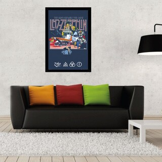 Led Zeppelin - Remains Print with Traditional Black Frame (24 x 36)
