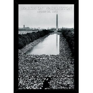 March On Washington Print with Traditional Black Frame (24 x 36)