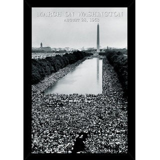 March On Washington with Contemporary Poster Frame (24 x 36)