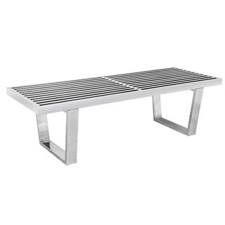 LeisureMod Inwood Stainless Steel 5-foot Bench