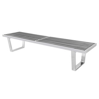 Shop Gridiron Stainless Steel Large Bench Free Shipping