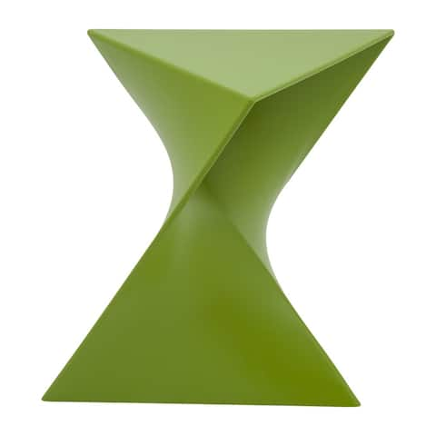 LeisureMod Quinzy Vanity Stool/Side Green Table