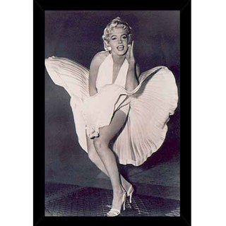 Marilyn Monroe - The Legend Print with Contemporary Poster Frame (24 x 36)