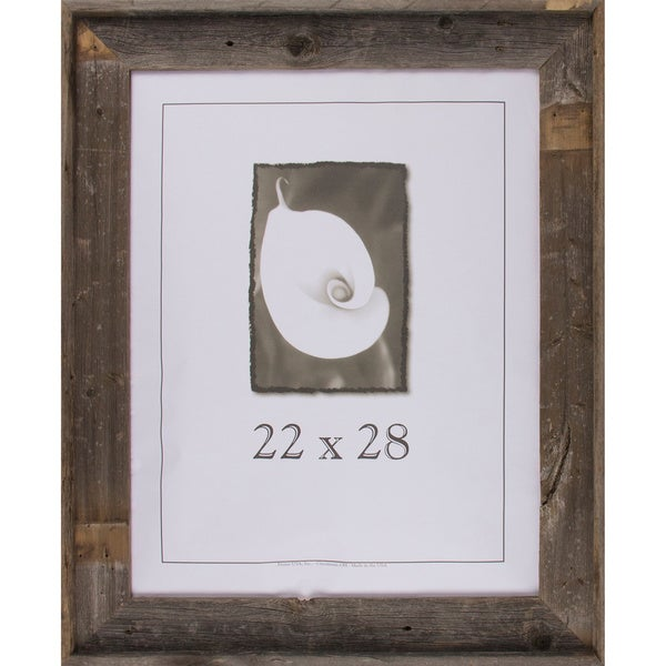 shop barnwood signature series picture frame 22 x 28 free shipping today. Black Bedroom Furniture Sets. Home Design Ideas