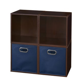 Niche Cubo Cubes and 2 Canvas Bins (Set of 4)