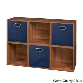Niche Cubo Cubes and 3 Canvas Bins (Set of 6)