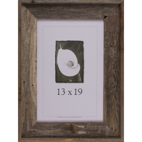 shop barnwood signature series picture frame 13 x 19 free shipping today. Black Bedroom Furniture Sets. Home Design Ideas