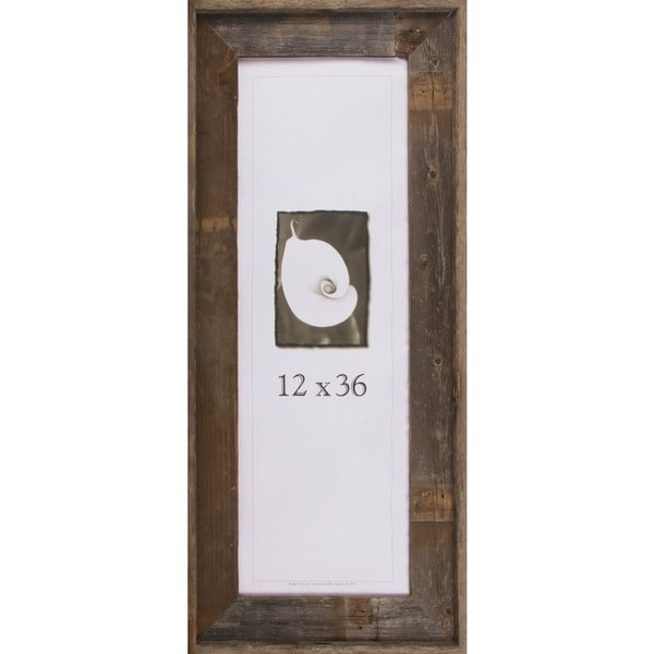 shop barnwood signature series picture frame 12 x 36 free shipping today. Black Bedroom Furniture Sets. Home Design Ideas