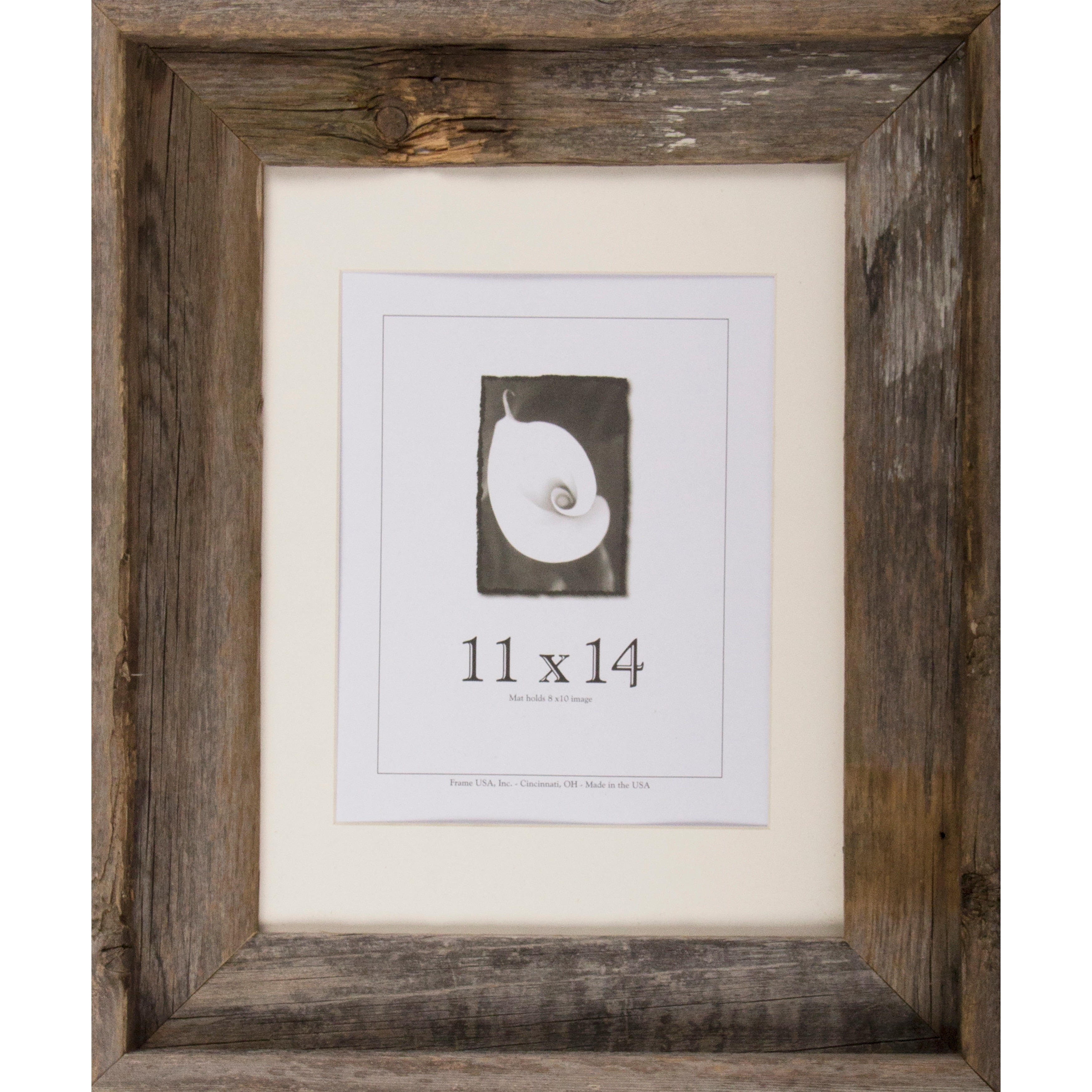 Shop Frame USA Barnwood Signature Series Grey/White Wood Picture ...