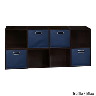 Niche Cubo Cubes and 4 Canvas Bins (Set of 8)