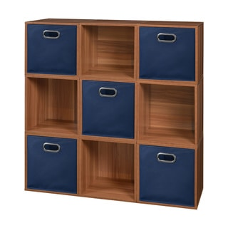 Niche Cubo Cubes and 5 Canvas Bins (Set of 9)