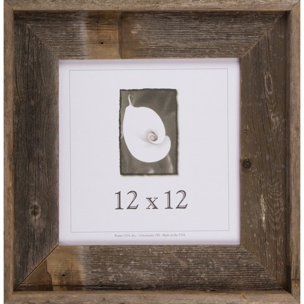 shop barnwood signature series picture frame 12 x 12 free shipping on orders over 45. Black Bedroom Furniture Sets. Home Design Ideas