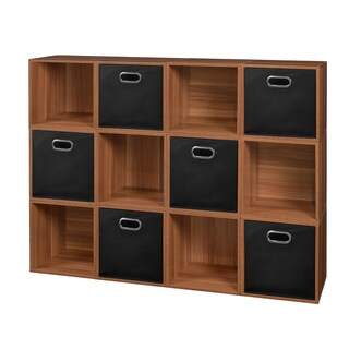 Niche Cubo Cubes and 6 Canvas Bins (Set of 12)