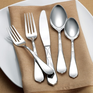 Hampton Forge Argent 45-piece Pleated Flatware Set