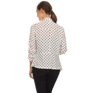 MOA Collection Women's Polka Dot Open Cardigan