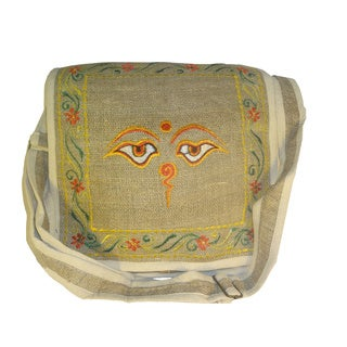 Handmade 100-percent Hemp Over the Shoulder Bag (Nepal)