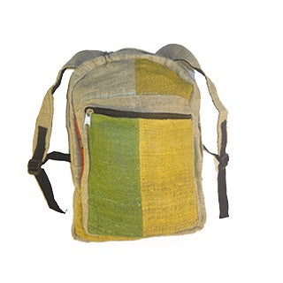 Handmade 100-percent Hemp Back Pack (Nepal)