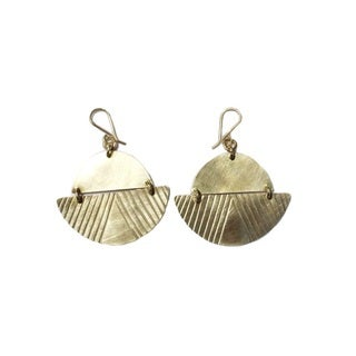 Brass Costello Earrings
