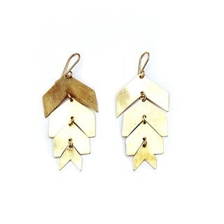 Brass El Greco Earrings