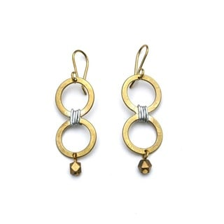 Brass Migori Earrings