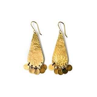 Brass Huxley Earrings