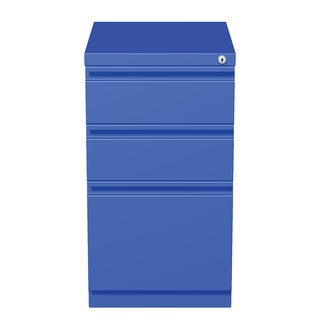 20-inch Blue Moblie Pedestal Box/ Box/ File with Full Width Pulls