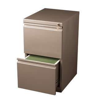 20-inch Metallic Bronze Moblie Pedestal File/ File with Extended Front and Full Width Pulls