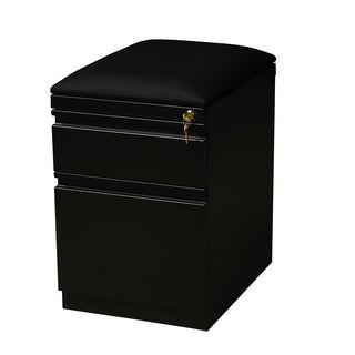 20-inch Black Moblie Pedestal with Seat Cushion Box/ File