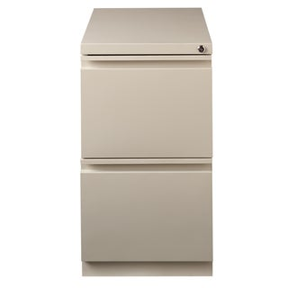 "Hirsh 23"" D Commercial Mobile Pedestal 2-Drawer File Cabinet, Putty"