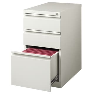 23-inch Gray Moblie Pedestal Box/ Box/ File with Full Width Pulls