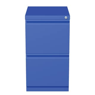 20-inch Blue Moblie Pedestal File/ File with Extended Front and Full Width Pulls
