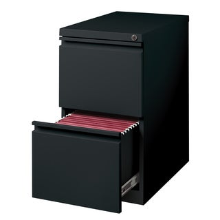 23-inch Black Moblie Pedestal File/ File with Extended Front and Full Width Pulls