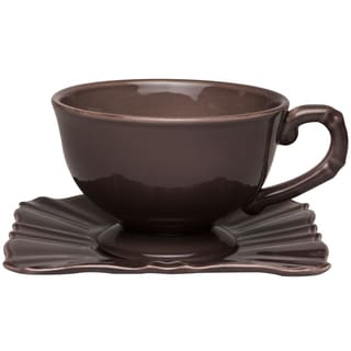 Countryside Moka Jumbo Cup / Saucer (Set of 4)