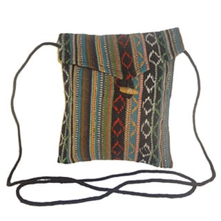 Passport Holder Shoulder Purse/ Portable Cotton Bag (Nepal)