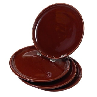 Le Souk Ceramique Set of 4 Solid Brown Side Plates (Tunisia)
