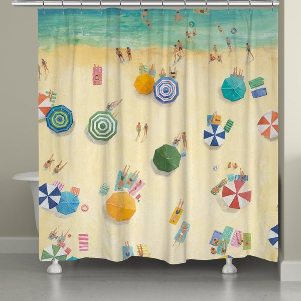 Laural Home Summer Beach Fun 71 x 72-inch Shower Curtain