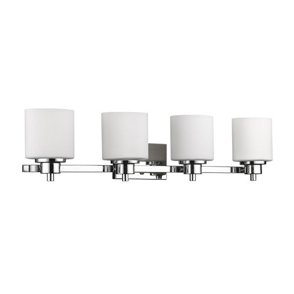 Moving Bathroom Vanity Light: Chloe Lighting Contemporary 4-light Chrome Bath/Vanity
