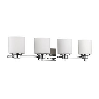 Chloe Lighting Contemporary 4-light Chrome Bath/Vanity Light